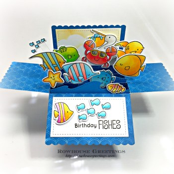 Rowhouse Greetings | Gill Friends & Beach Buds by My Favorite Things (MFT Stamps)