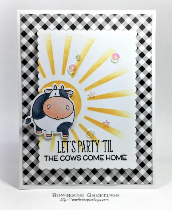 Rowhouse Greetings   The Whole Herd by My Favorite Things (MFT Stamps)
