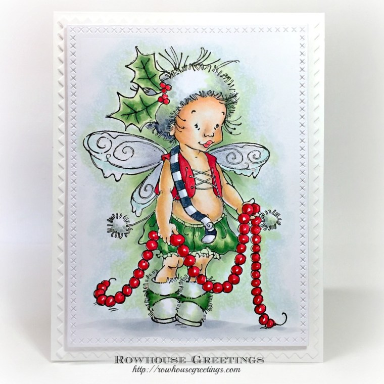 Rowhouse Greetings   Garland Pixie by Penny Black