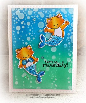 Rowhouse Greetings   Purr-maids by Newton's Nook