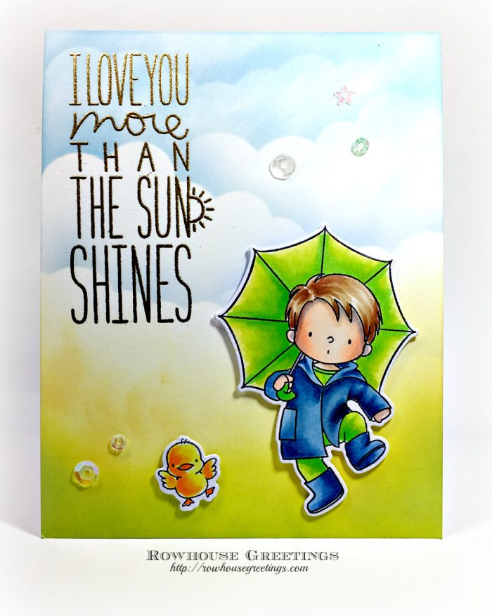 Rowhouse Greetings | BB Puddle Jumper by My Favorite Things (MFT Stamps)