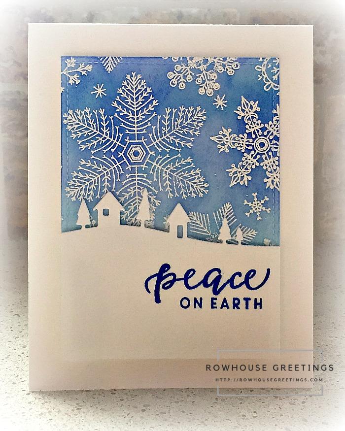 Rowhouse Greetings | Hand Drawn Snowflakes Bold Print by Hero Arts
