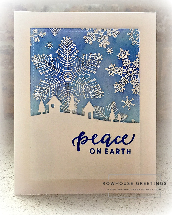 Rowhouse Greetings   Hand Drawn Snowflakes Bold Print by Hero Arts