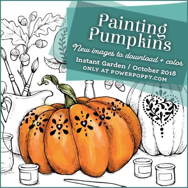Power Poppy Painting Pumpkins