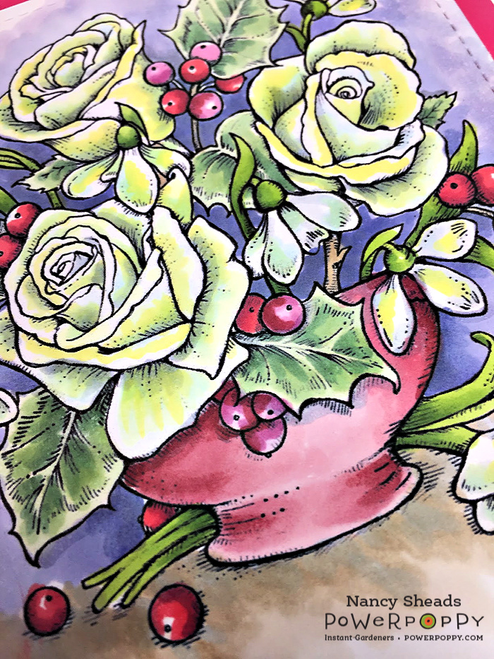 Rowhouse Greetings   Snowdrops & Tea Roses by Power Poppy