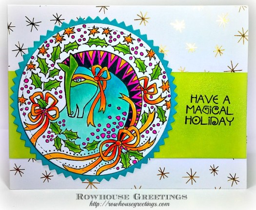 Rowhouse Greetings | Laurel Burch Wreath Mare by Stampendous