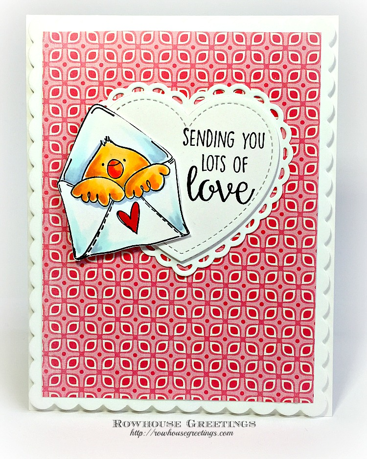 Rowhouse Greetings   Mail Chick by Stamping Bella
