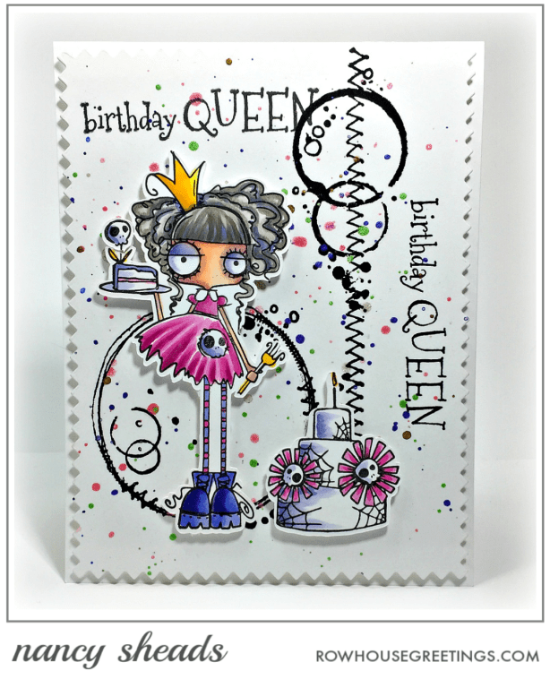 Rowhouse Greetings | Oddball Birthday Queen by Stamping Bella