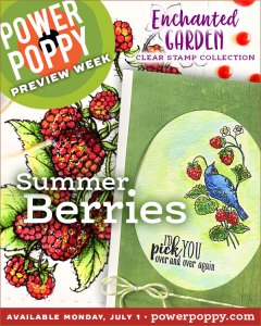 Enchanted Garden Clear Stamp Collection | Summer Berries | Power Poppy