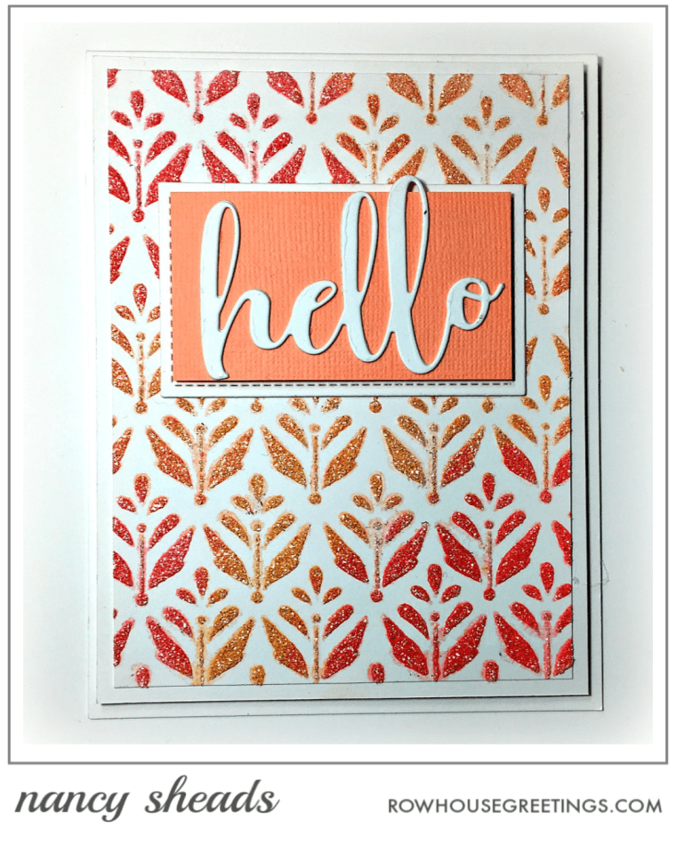 Rowhouse Greetings | Hello by Honey Bee Stamps | Summertime Bloom by Echo Park Paper Co.