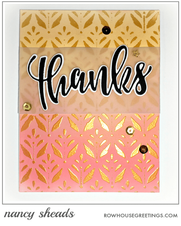 Rowhouse Greetings | Thanks by Honey Bee Stamps | Summertime Bloom by Echo Park Paper Co.