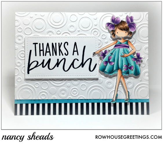 Rowhouse Greetings | Tiny Townie Garden Girl Violet by Stamping Bella