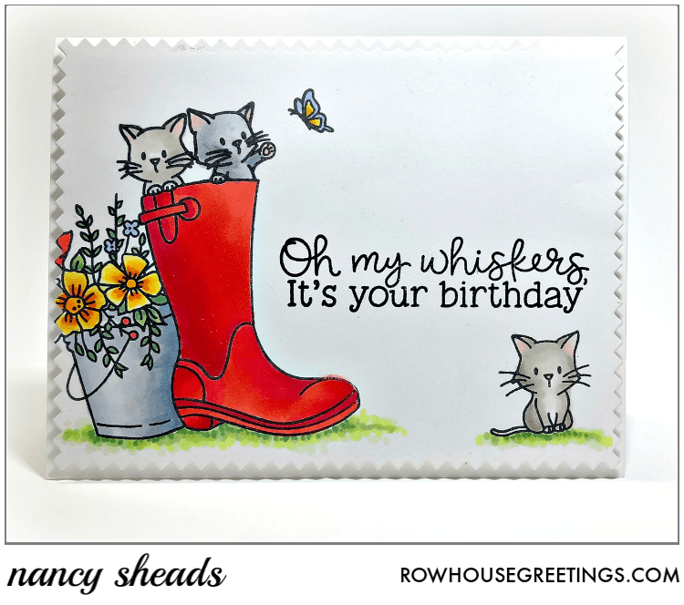 Rowhouse Greetings | Oh My Whiskers by Honey Bee Stamps