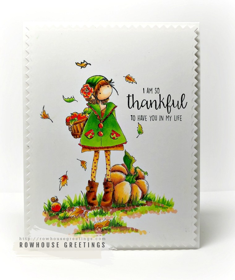 Rowhouse Greetings | Tiny Townie Fay Loves Fall by Stamping Bella