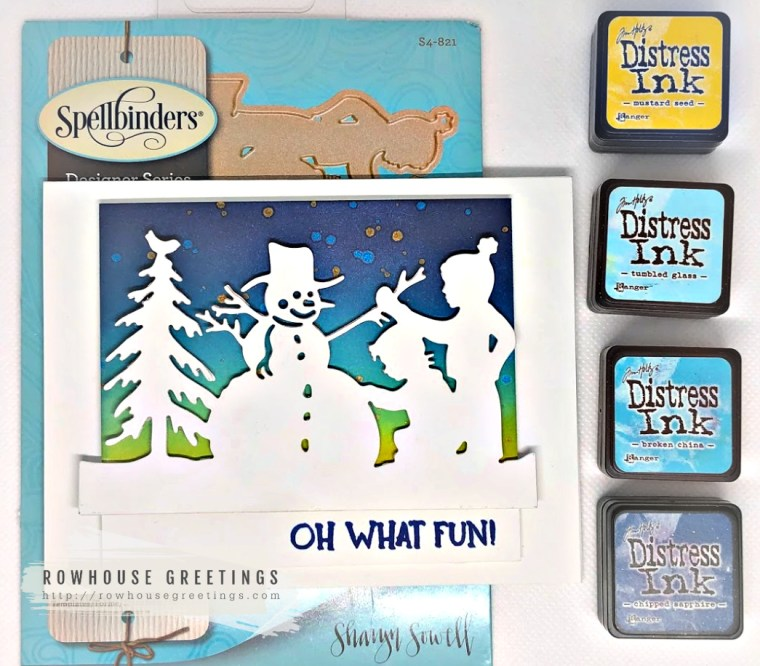 Rowhouse Greetings | Building a Snowman by Spellbinders