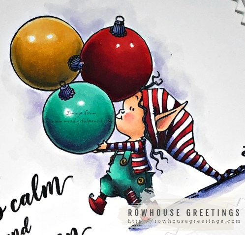 Rowhouse Greetings | Little Elf Kippa by Mo's Digital Pencil