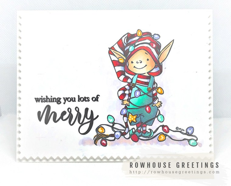 Rowhouse Greetings | Little Elf Tippi by Mo's Digital Pencil