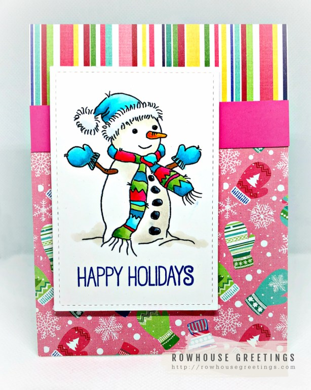 Rowhouse Greetings | Christmas Snowman by Lili of the Valley
