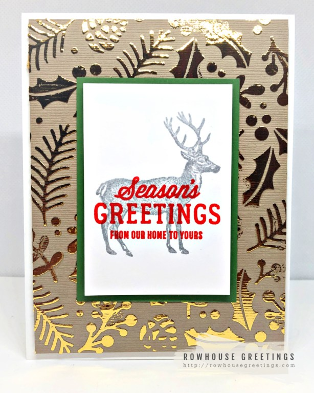 Rowhouse Greetings | Holiday Folliage by Newton's Nook Designs
