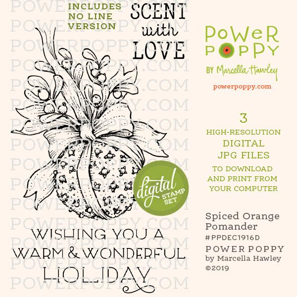 Spiced Orange Digital Stamp Set by Power Poppy