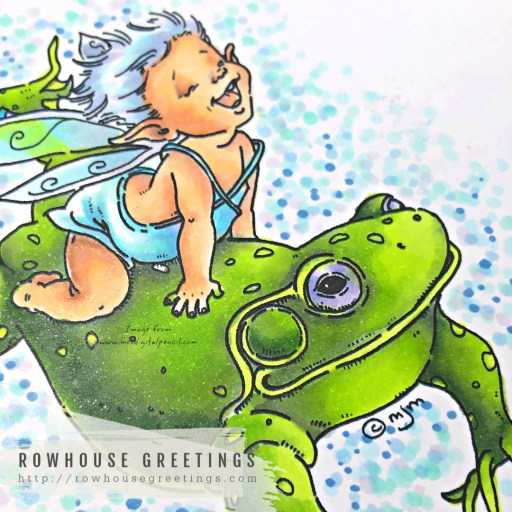 Rowhouse Greetings | Spring Fairy Puddle by Mo's Digital Pencil