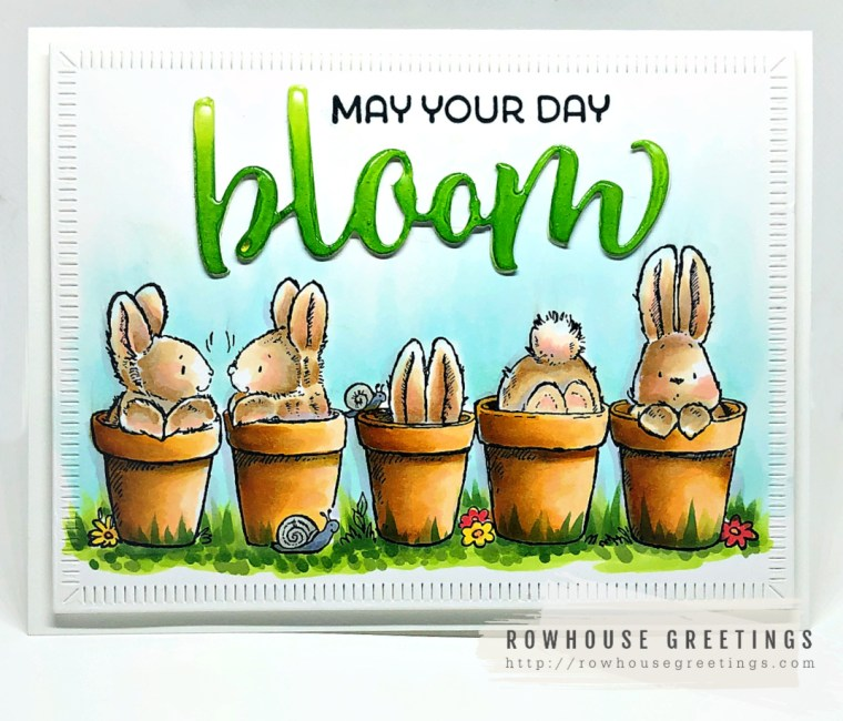 Rowhouse Greetings | Bunny Friends by Penny Black Stamps