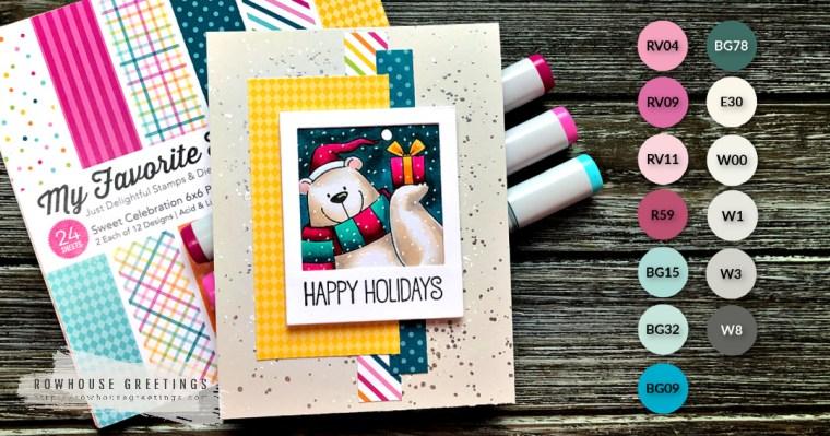 Rowhouse Greetings | BB Christmas sELFies by My Favorite Things