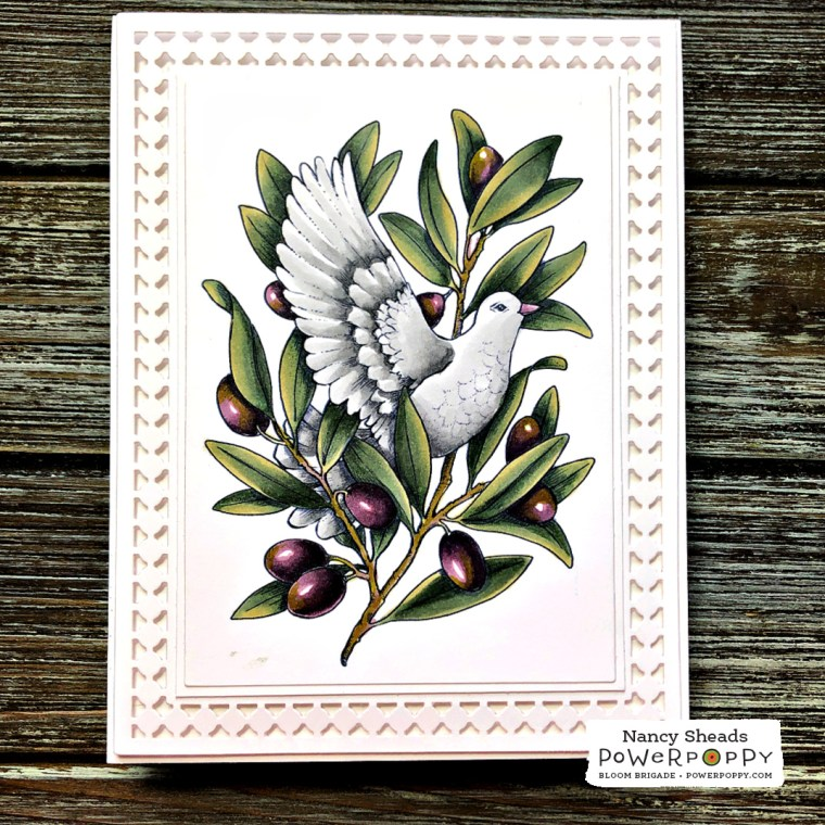 Rowhouse Greetings | Heavenly Peace Dove by Power Poppy