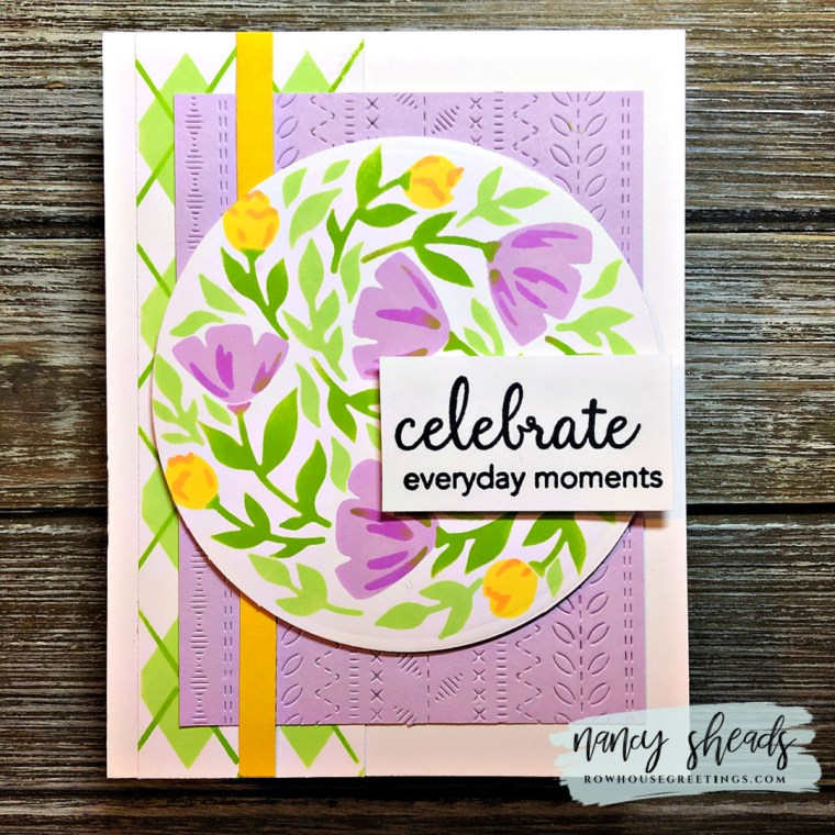 Rowhouse Greetings | Floral Circle Print by Pinkfresh Studio