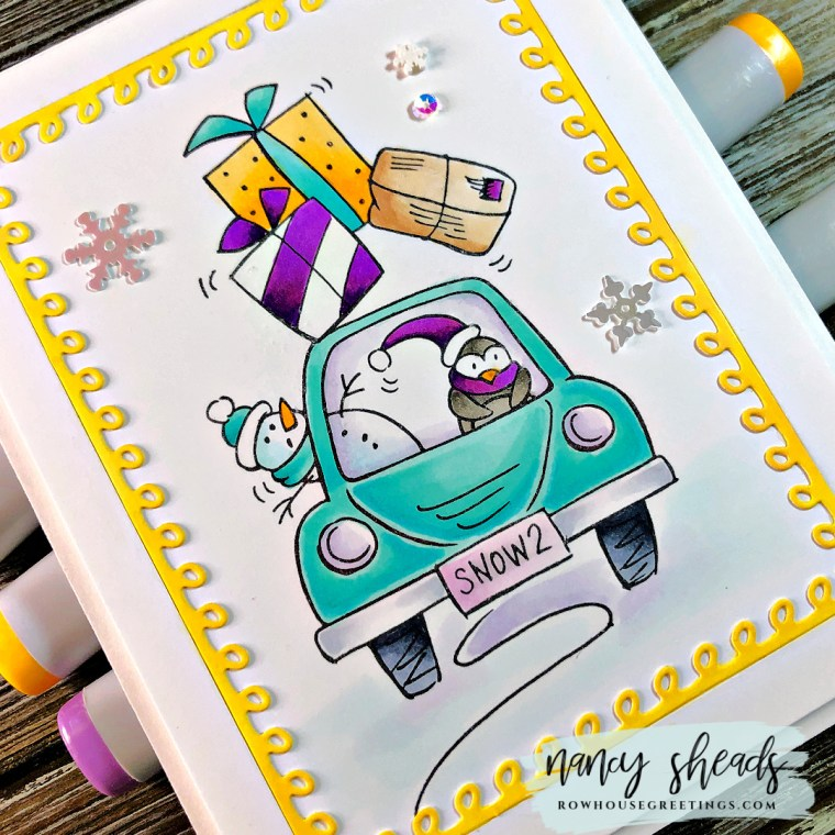 Rowhouse Greetings | Holiday Delivery by Stampendous!