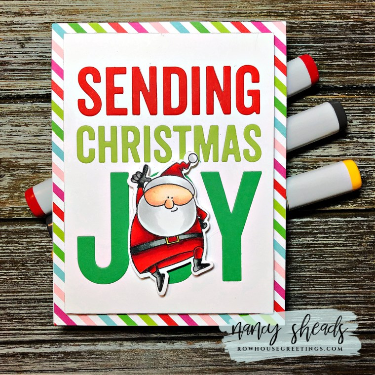 Rowhouse Greetings | BB Jingle All the Way by My Favorite Things (MFT Stamps)
