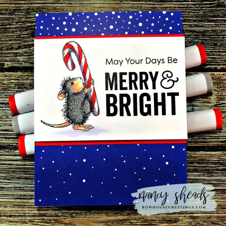 Rowhouse Greetings | Holiday Happy by Stampendous! House Mouse Designs