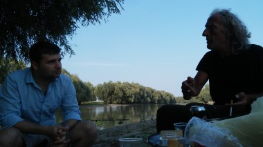Danube Delta debate on Turkey, Austria, religion, refugees and other topics with Romanian fishermen who invited us to eat and drink with them.