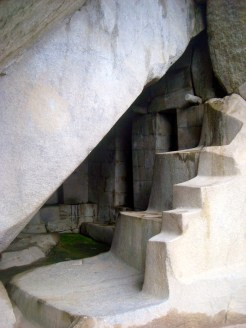 Room used for ceremonies. We know this from the steps which symbolize the three sacred worlds.