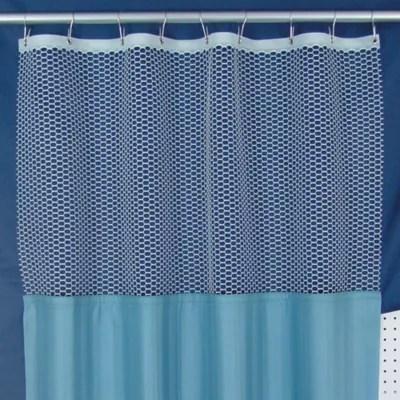 white cubicle curtain mesh