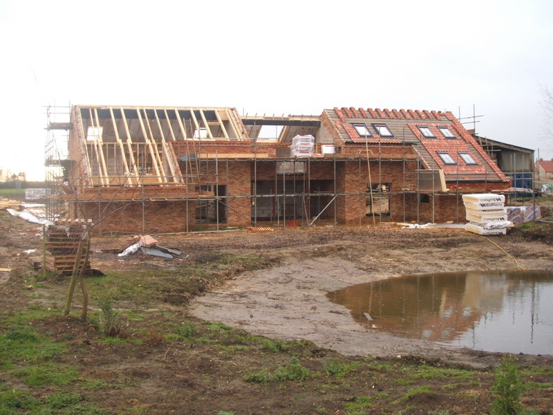 Barn Conversion During Construction Works