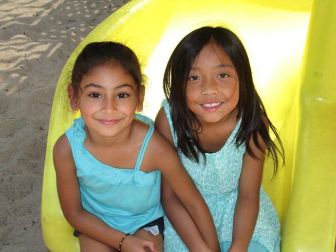 Friends in summer camp