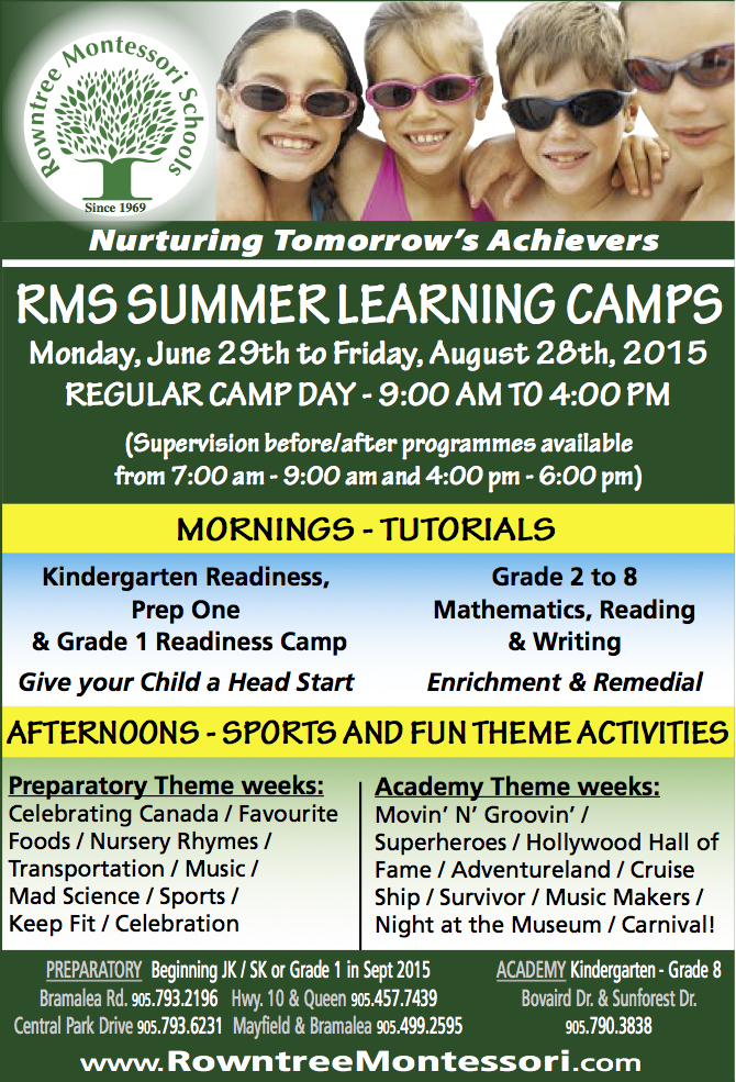 RMS Summer Learning Camps 2015 cover