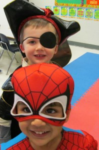 Scary Spiderman and a Scary Pirate