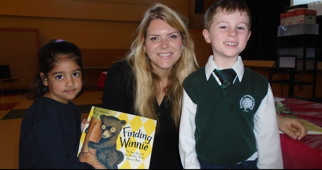 "Rowntree Students with the author of ""Finding Winnie"", Lindsay Mattick"