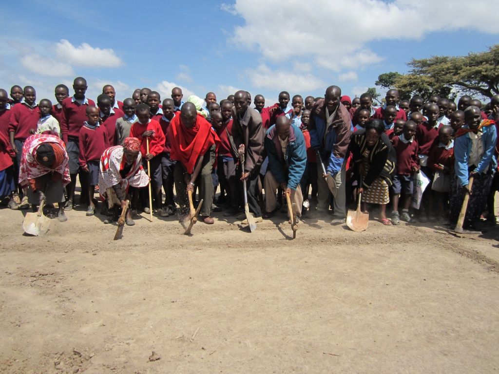 The Kipsongol community breaks ground!