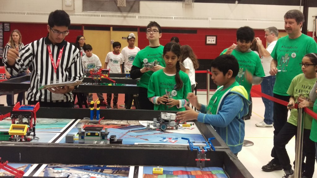 RMS #Swagbots in competition