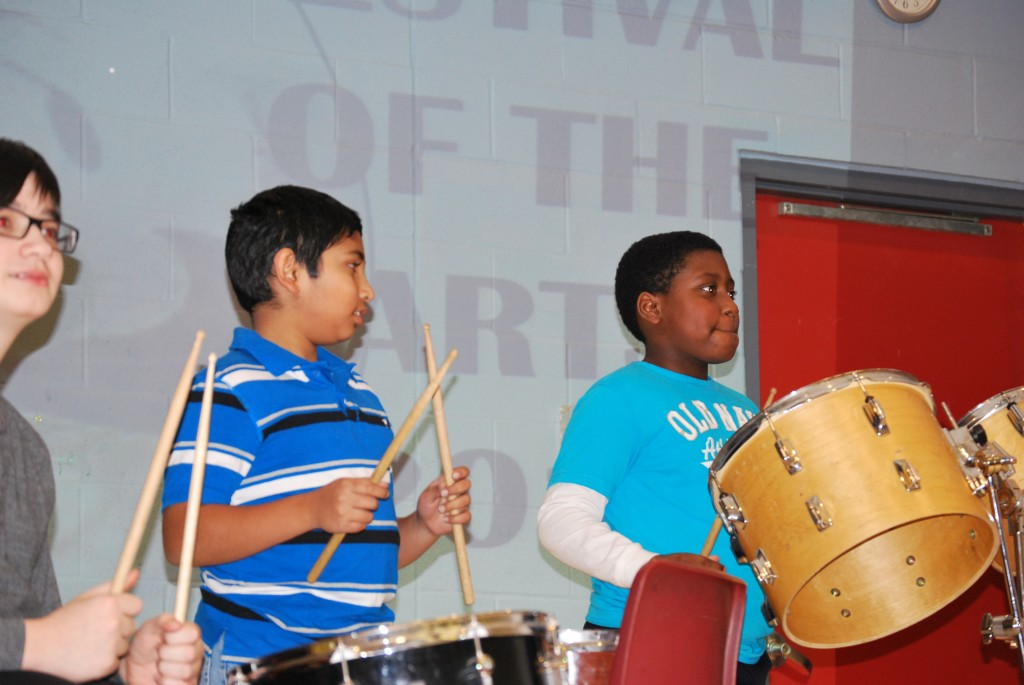 The Drum Club Opening the Show