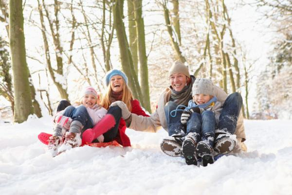 Sledging - A fun activity on family day