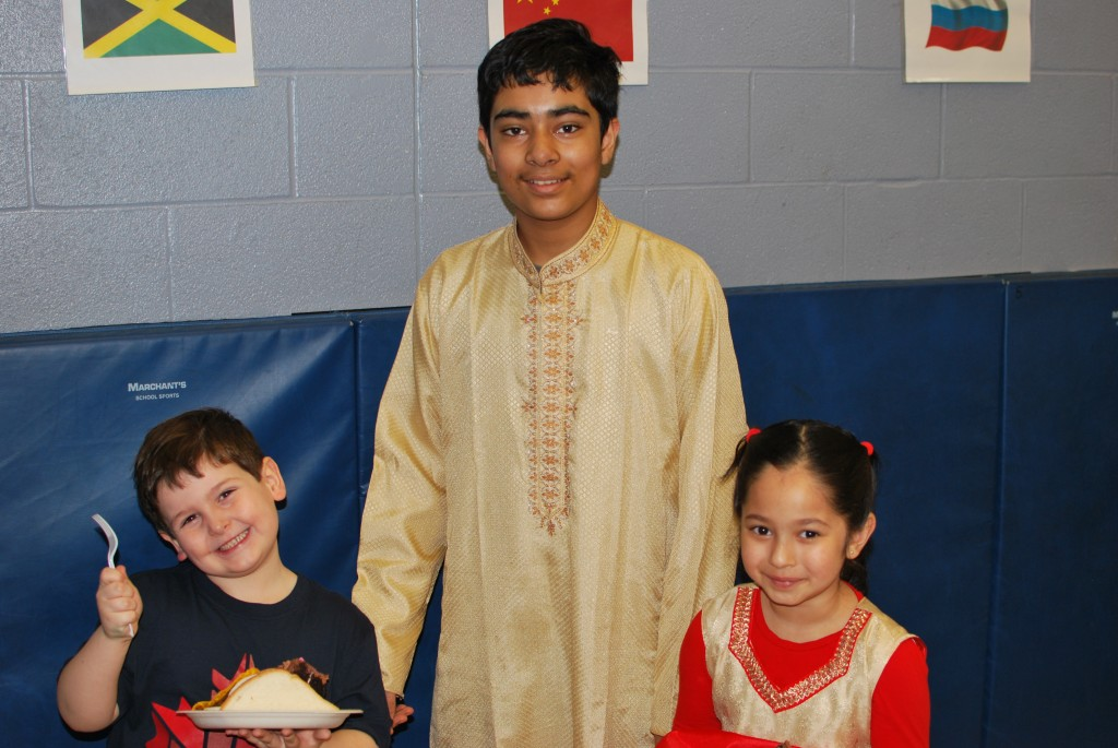 Sharing each others culture at International Day with some traditional food!