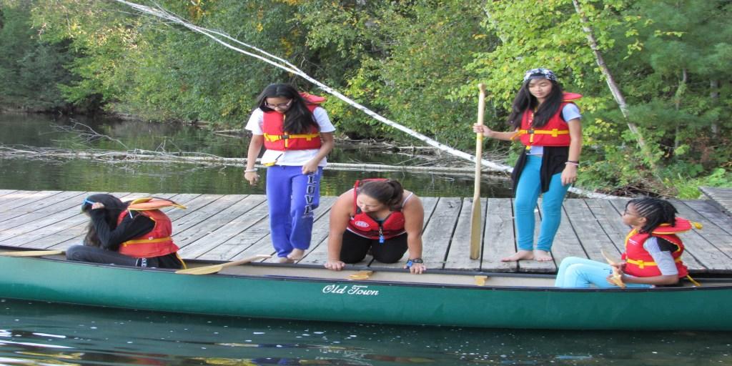 Teamwork on the lake
