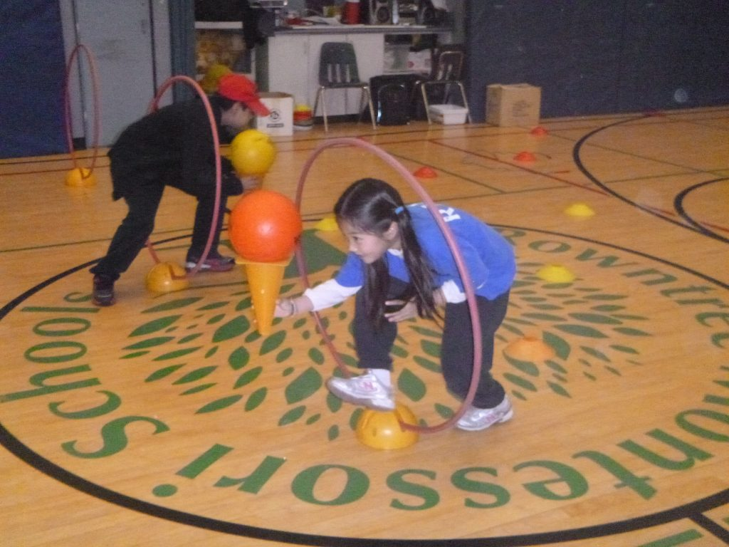 Students involved in Extracurricular activities in the gym