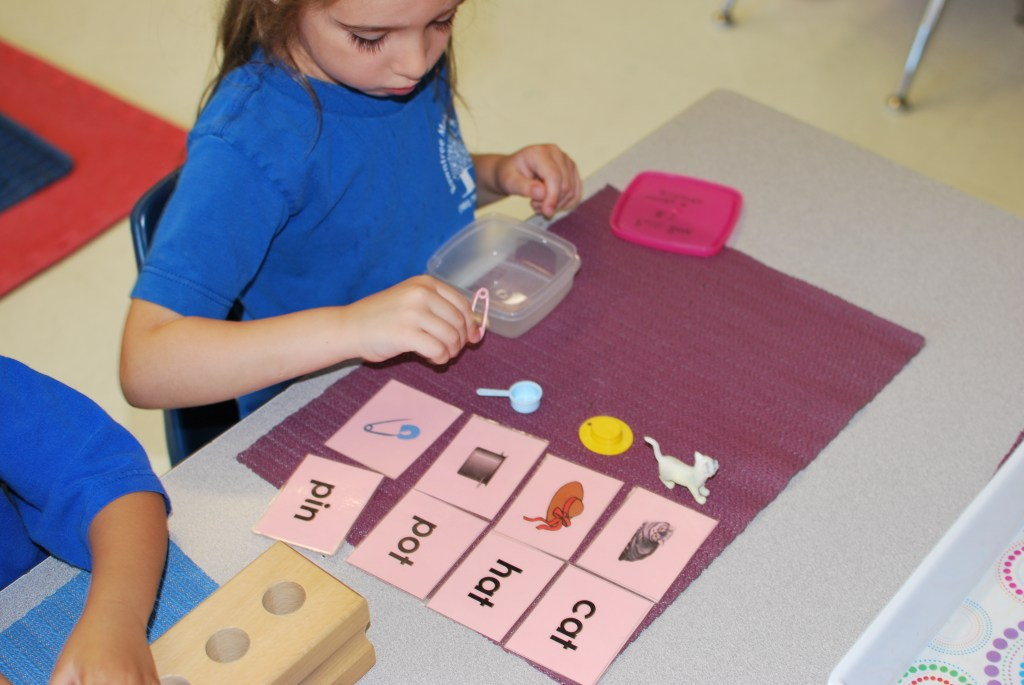 Students use different Montessori Methods to complete their learning tasks