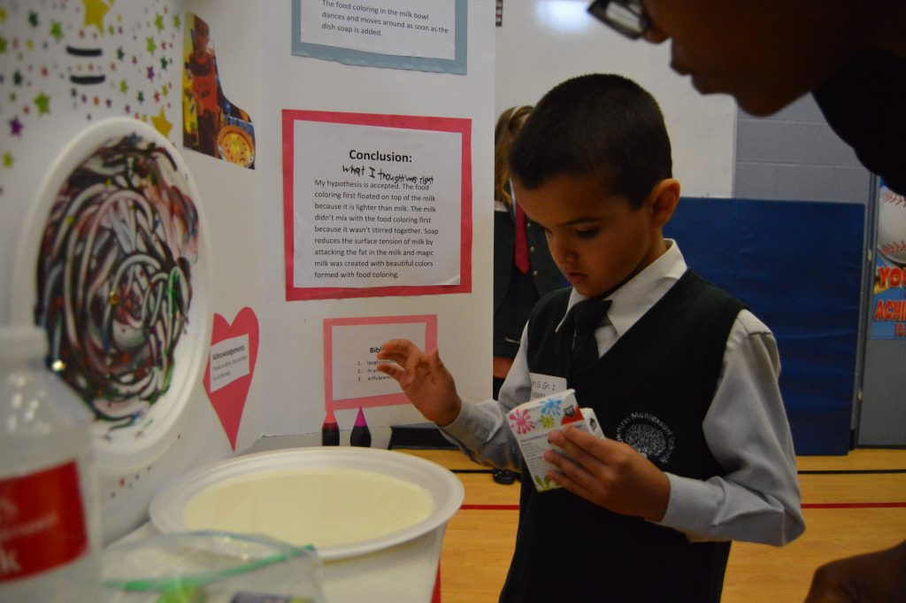 The contestants had experiments to conduct during their presentations