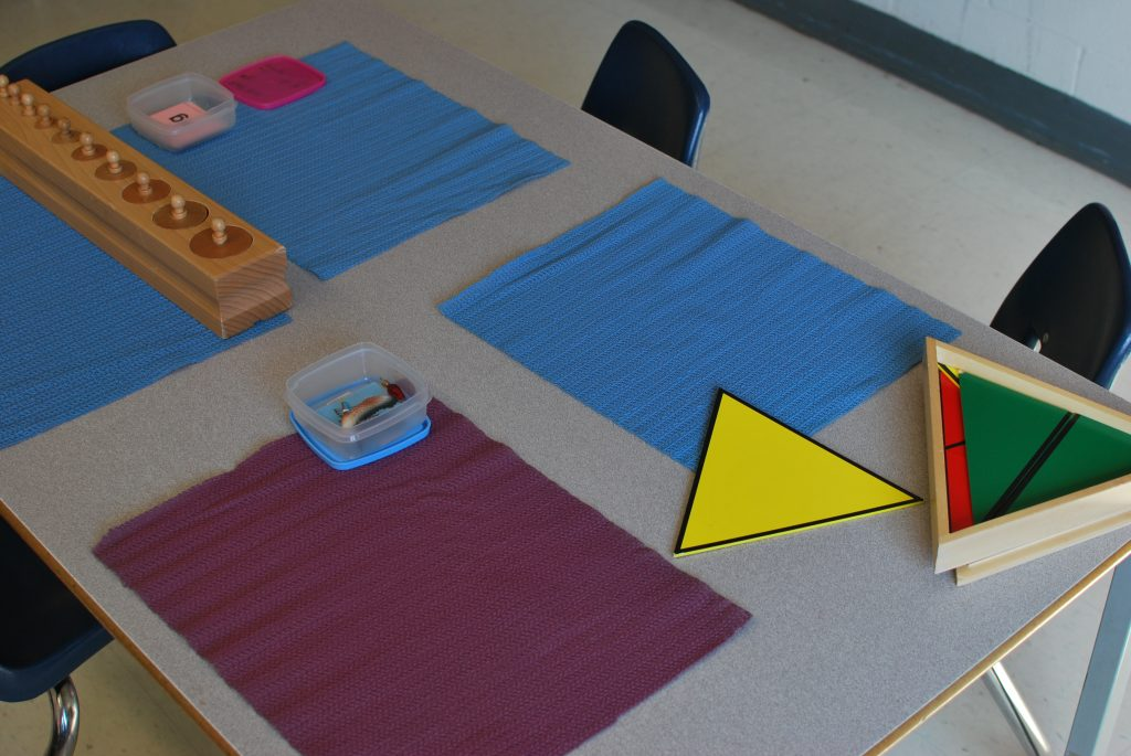 Just some of the Montessori resources used in the classroom on a daily basis